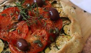 Tarte rustique courgette tomate