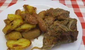 Filet mignon et pommes de terre grillés au four