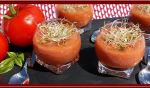 Soupe de Tomates, Basilic, ail et vinaigre balsamique