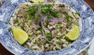 Salade de maquereau grillé