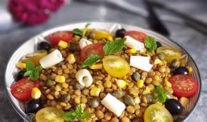 Salade de Lentilles au Curcuma