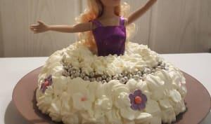 Gâteau de princesse Barbie Charlotte aux fraises