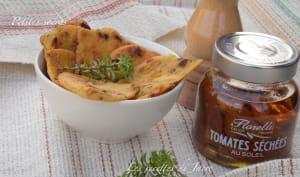 Petites soccas à la sarriette et tomates séchées