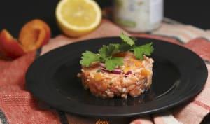 Tartare de saumon aux abricots