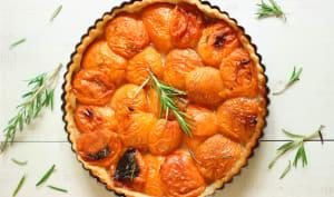 Tarte aux abricots miel et romarin