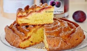 Gâteau yaourt aux prunes et confiture de lait