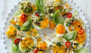 Salade oeufs et tomates