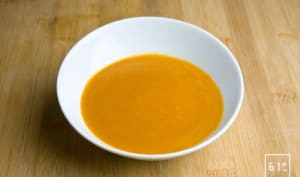 Soupe de carottes caramélisée