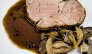 Rôti de porc à l'ail noir