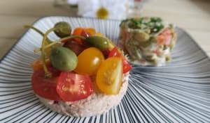 Tomates cerises aux rillettes de thon