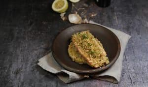 Filet de saumon en croûte de basilic