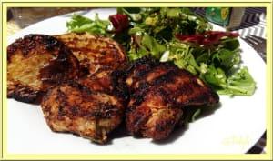 Hauts de cuisse de poulet marinés au paprika