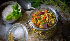 Préparation déshydratée pour soupe minestrone