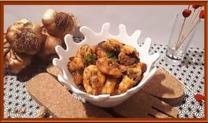 Crevettes à l'ail, persil et sauce soja