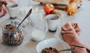 Granola au chocolat et noisettes