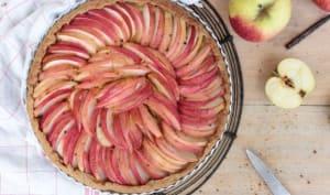 Tarte aux pommes, pâte levée au vin blanc
