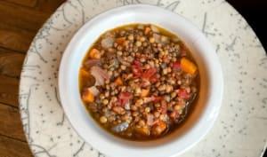 Soupe de lentilles à la grecque