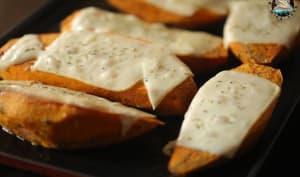 Patates douces au four