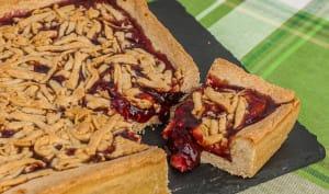 Mderbel, gâteau algérien à la confiture de fruits rouges
