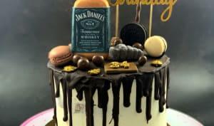 Drip cake au chocolat Jack Daniel's
