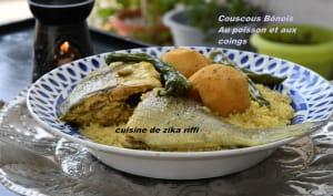 Couscous au poisson et aux coings