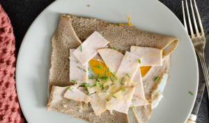 Galette bretonne jambon, oeuf et fromage
