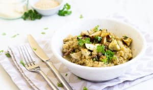 Risotto de quinoa aux cèpes
