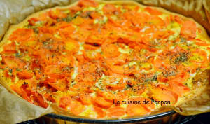 Tourte aux carottes et effilochés de porc