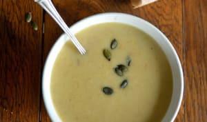 Soupe pâtisson-poireau