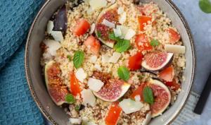 Taboulé aux figues et aux tomates