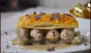 Feuilletés de Quenelles et Ris de veau à la truffe