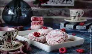 Amaretti aux amandes et framboises
