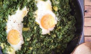 Les œufs aux épinards à l'irakienne