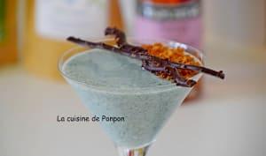 Verrine de yaourt à la linette et spiruline