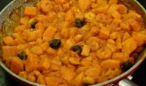 Tajine de crevettes aux patates douces