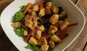 Mesclun aux carottes et poulet poêlés