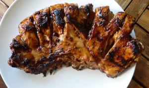 Poitrine d'agneau sauce barbecue