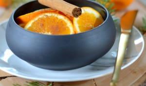 Salade d'orange à la cannelle et au rhum