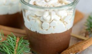 Mousse au chocolat noir et chantilly spéculoos
