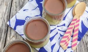 Mousse au chocolat et crème d'avocat