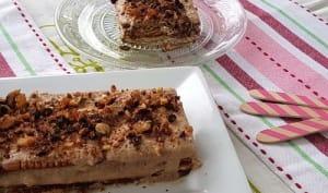 Gâteau sans cuisson, aux petits beurres
