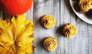Biscuits moelleux à l'okara ganache pumpkin spice