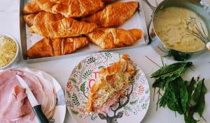 Croissants fourrés à la béchamel aux herbes