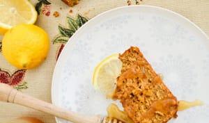 Cake fondant citron, carotte et avoine