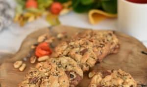 Cookies cacahuète et deux chocolats