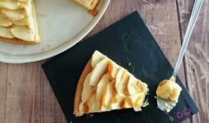 Tarte aux pommes sur sablé breton