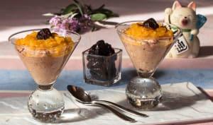 Crème de pruneaux à la japonaise, compote de clémentines