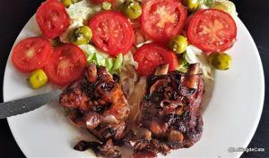 Travers de porc aux quetsches et à la sauce soja