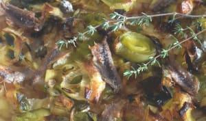 Pissaladière aux poireaux