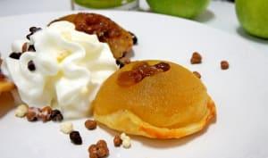 Mini tatin aux pommes raisins miel caramélisés